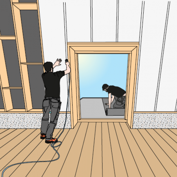 Perfecte isolatie van een hellend dak