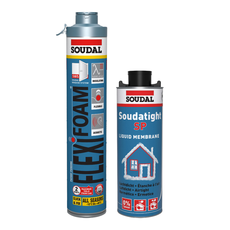 Soudal Flexifoam en Soudatight SP