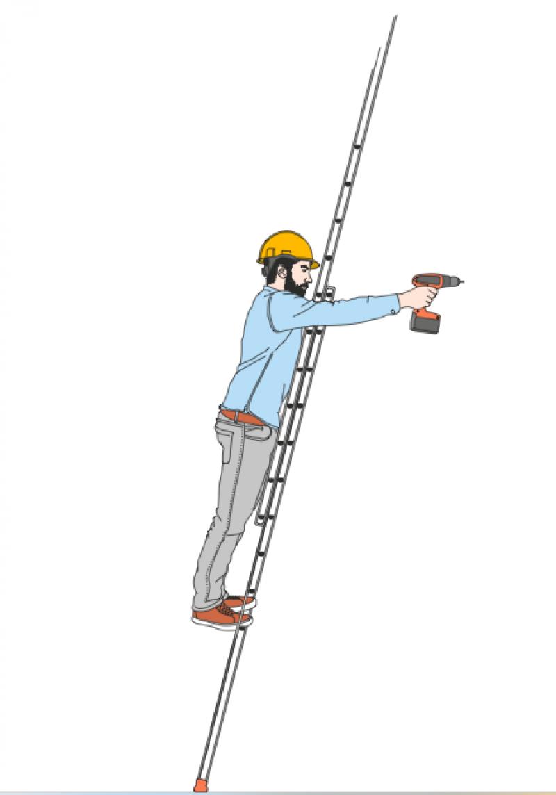 Veilig werken op een ladder