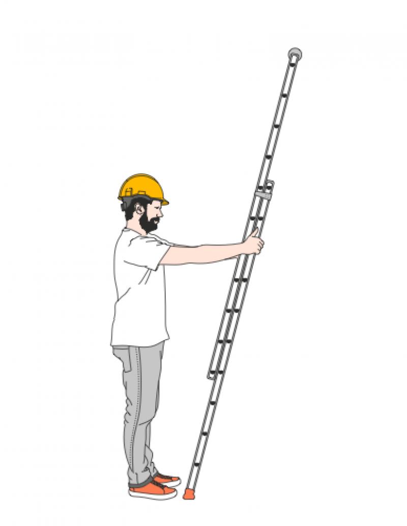 Veilig op een ladder